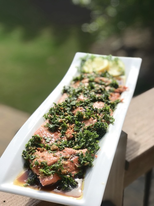 Fish Baked in Celtic Salt Crust with Olive Oil, Parsley, Garlic and  Balsamic Sauce